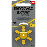 Rayovac 10 (PR70) Extra Advanced – 5 blister +1 blister free (30+6 = 36 batteries)