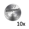 Rayovac Rayovac Quartz Silver 377 QX 1,55V button cell - strip with 10 batteries
