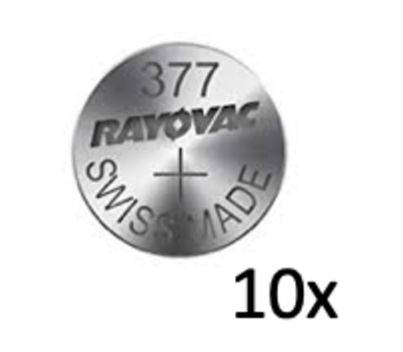 Rayovac Quartz Silver 377 QX 1,55V button cell - strip with 10 batteries