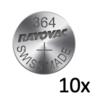 Rayovac Rayovac Pile bouton Silver 364 QX 1,55V - Bande avec 10 piles