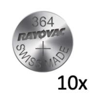 Rayovac Pile bouton Silver 364 QX 1,55V - Bande avec 10 piles