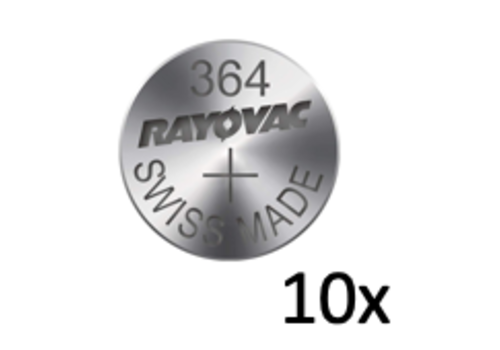 Rayovac Rayovac Pile bouton Silver 364 QX 1,55V - Bande avec 10 piles