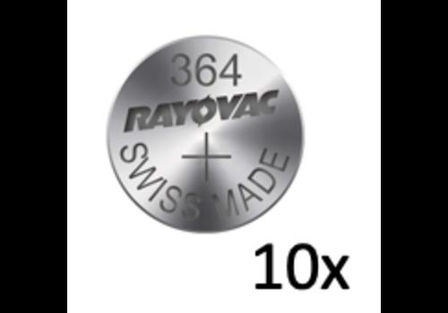 Rayovac Rayovac Silver 364 QX 1,55V knoopcel - strip met 10 batterijen