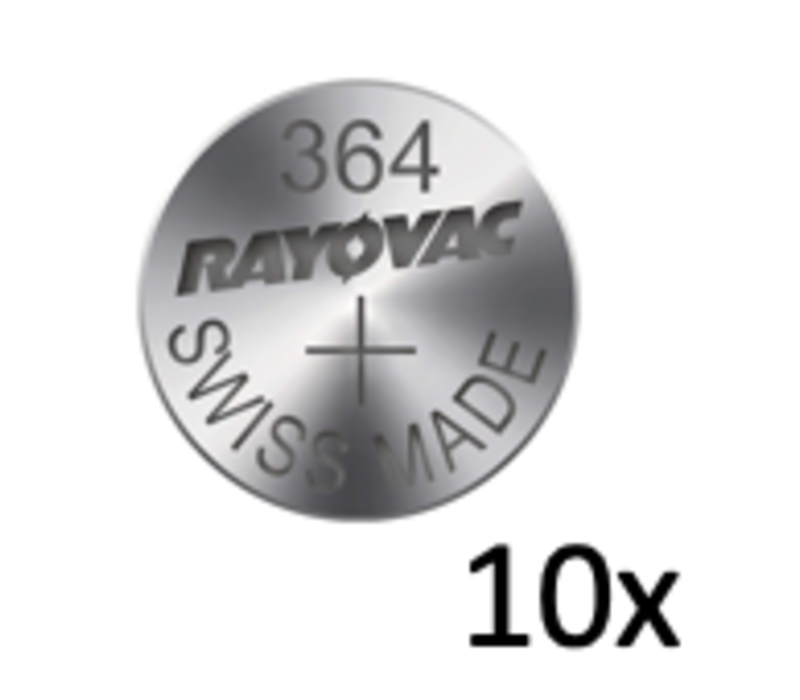 Rayovac Silver 364 QX 1,55V button cell - strip with 10 batteries