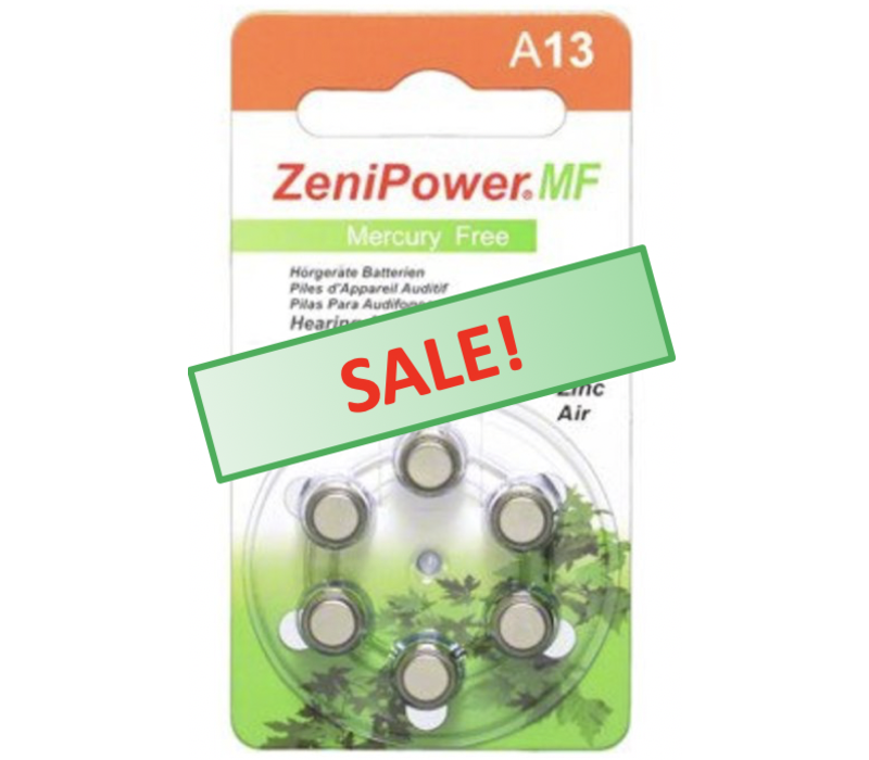 ZeniPower A13 – 1 pack (6 batteries)