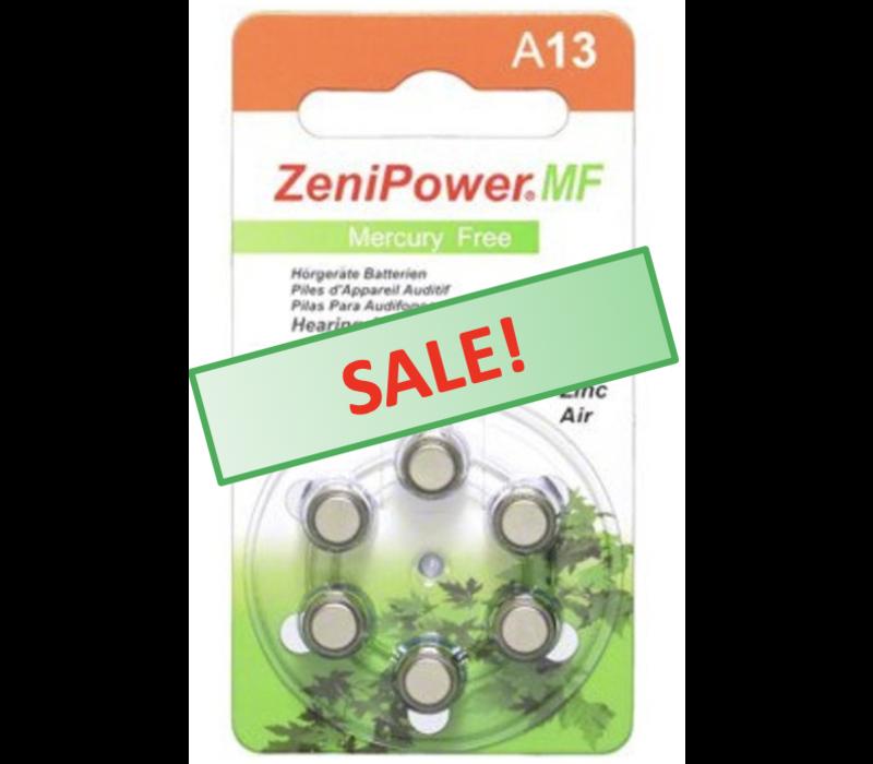 ZeniPower A13 - 1 pakje (6 batterijen)