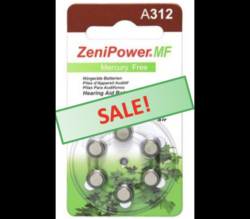 ZeniPower A312 – 1 blister (6 batteries)