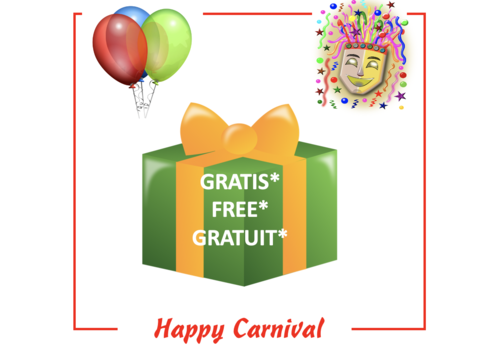 PowerOne Gratis* Carnaval cadeau - max 1 per klant/order