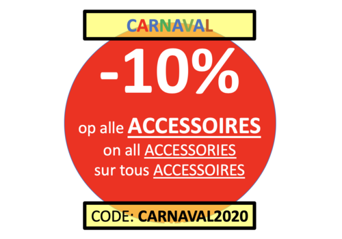CARNAVAL WEEK: Accessoires -10% met code 'CARNAVAL2020'