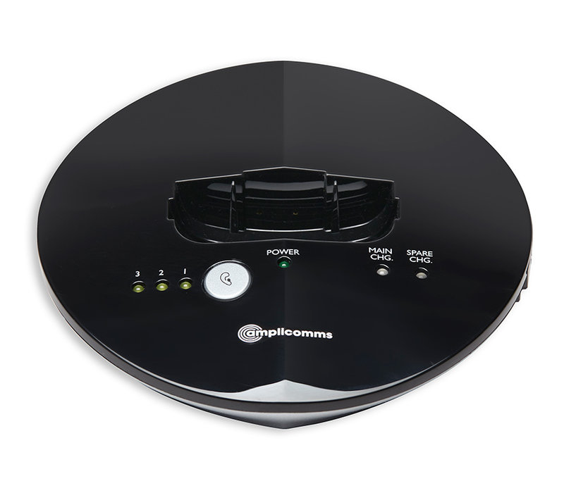 Amplicomms TV 2510-NL Digital TV Listener with neck loop - Black/Silver