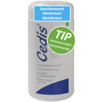 Cedis cleansing wipes (90x) with handy dispenser