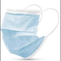 Masque buccal type II,  Masque respiratoire 3 couches, 1 pièce. Usage unique avec boucle d'oreille.