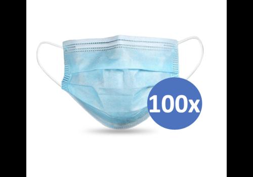 Masque buccal type II,  Masque respiratoire 3 couches, 100 pièces. (Masque jetable)