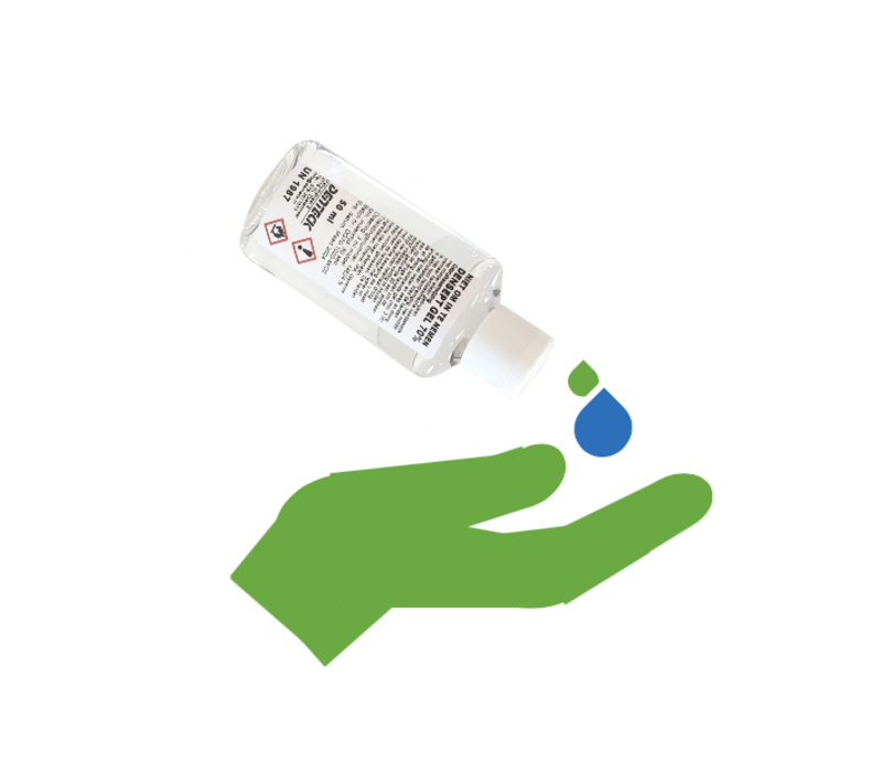 Hand gel hand disinfectant Densept 70% - 50ML bottle