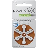 PowerOne p312 (PR41) – 30 packs (180 batteries)  with free battery box key ring