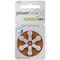 PowerOne p312 (PR41) - 30 pakjes (180 batterijen) met gratis batterijbox sleutelhanger