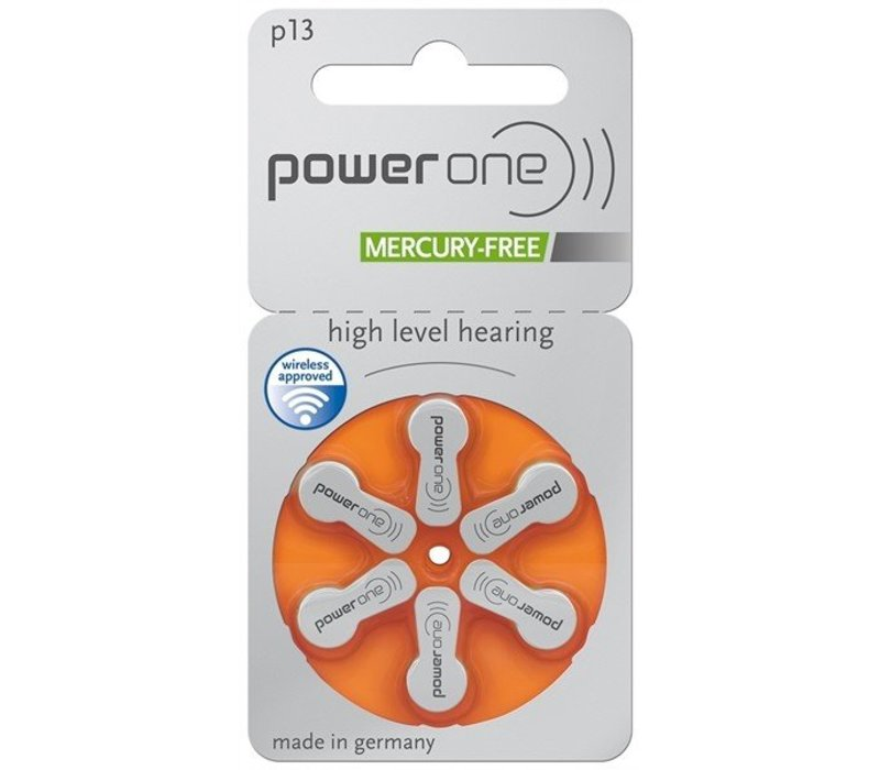 PowerOne p13 (PR48) – 30 packs (180 batteries)  with free battery box key ring