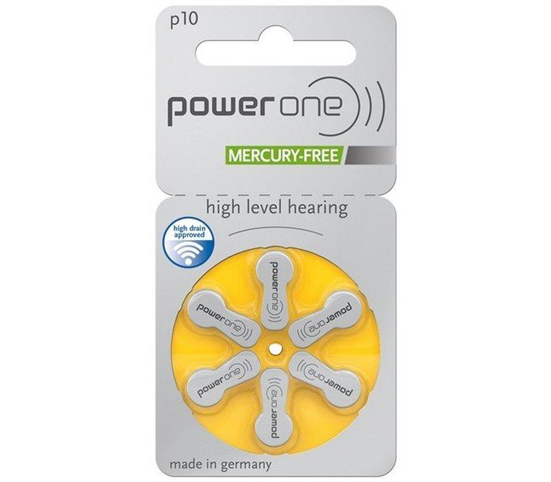 PowerOne p10 (PR70) - 30 colis (180 piles) avec porte-clés boîtier à piles gratuit