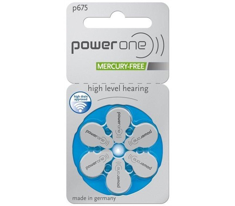 PowerOne p675 - 30 pakjes (180 batterijen) met gratis batterijbox sleutelhanger