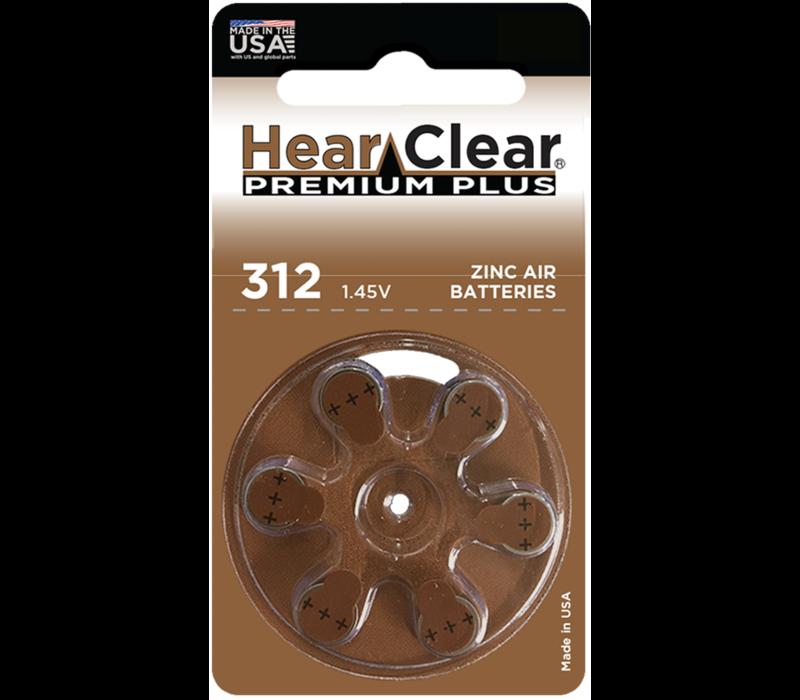 HearClear 312 (PR410 Premium Plus – 1 blister (6 batteries)