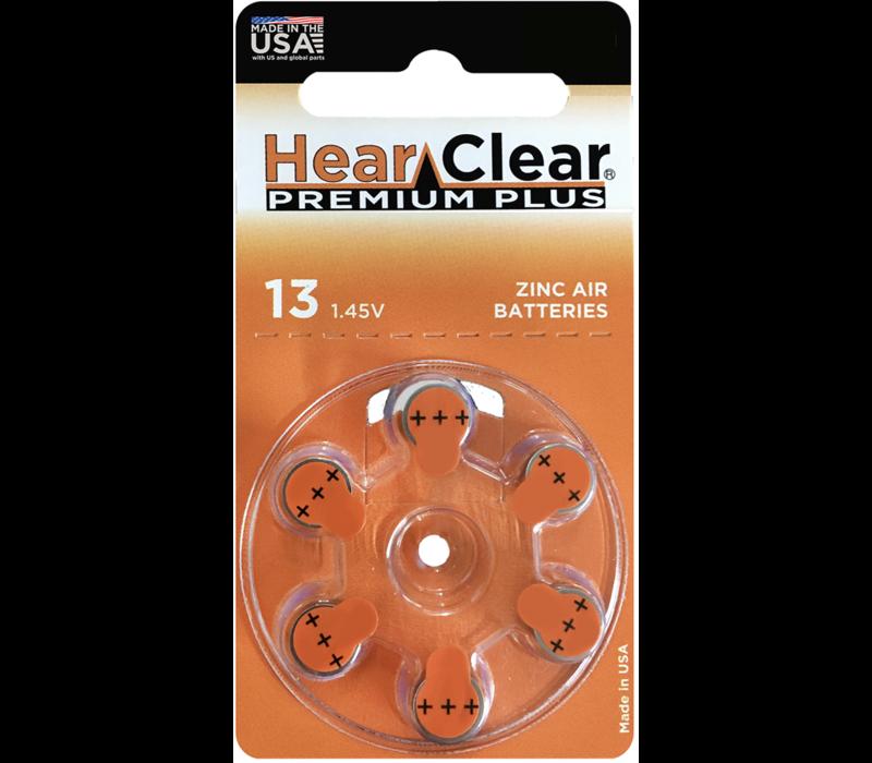 HearClear 13 (PR48) Premium Plus – 10 blisters (60 batteries)