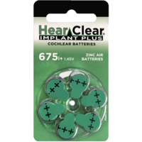 HearClear 675i+ (PR44) Implant Plus - 10 blisters (60 cochlear implant batteries)