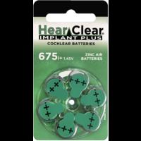 HearClear 675i+ (PR44) Implant Plus - 10 pakjes (60 cochleair implantaat batterijen)
