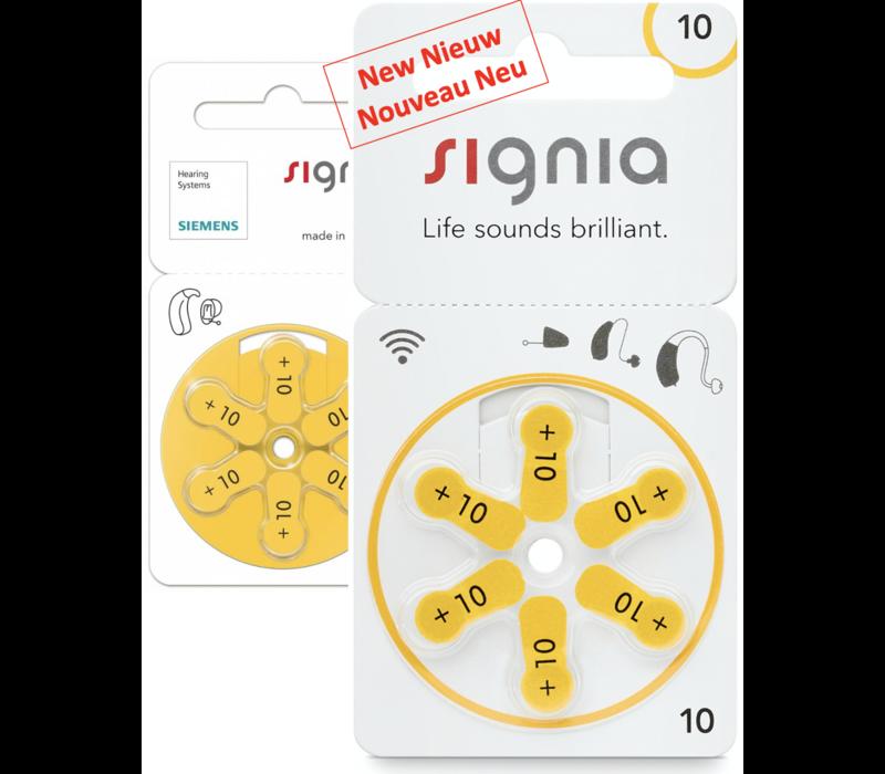 Siemens Signia 10 (PR70) - 1 blister (6 batteries)