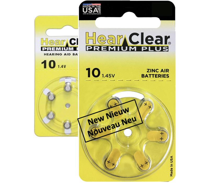 HearClear 10 (PR70) Premium Plus - 1 colis (6 piles)