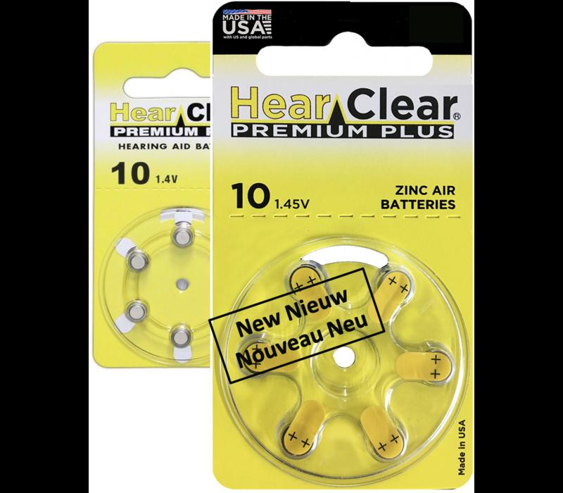 HearClear 10 (PR70) Premium Plus - 10  blisters (60 batteries)