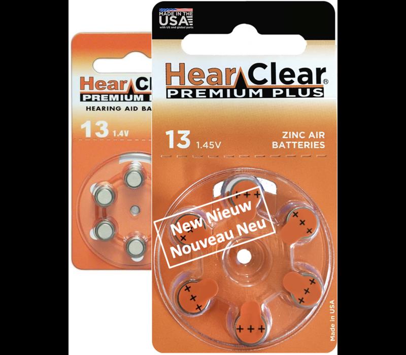 HearClear 13 (PR48) Premium Plus - 10 pakjes (60 batterijen)
