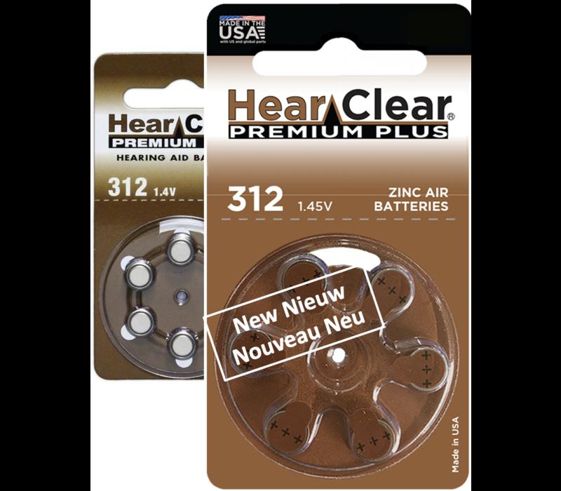 HearClear 312 (PR41) Premium Plus - 20 pakjes (120 batterijen)