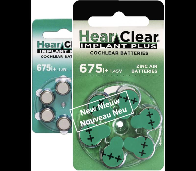 HearClear 675i+ (PR44) Implant Plus - 100 pakjes (600 cochleair implantaat batterijen)