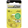 HearClear HearClear 10 (PR70) Premium Plus – 20 blisters (120 batteries)