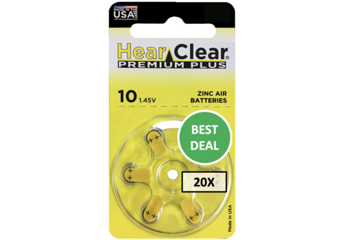 HearClear HearClear 10 Premium Plus - 20 pakjes