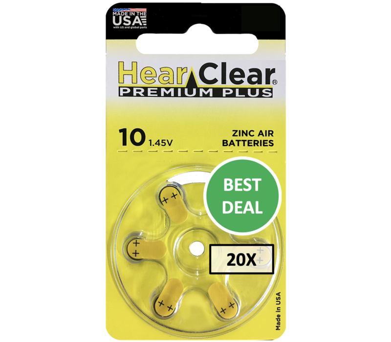 HearClear 10 (PR70) Premium Plus – 20 blisters (120 batteries)