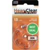 HearClear HearClear 13 (PR48) Premium Plus - 20 colis (120 piles)