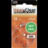 HearClear HearClear 13 (PR48) Premium Plus - 20 pakjes (120 batterijen)