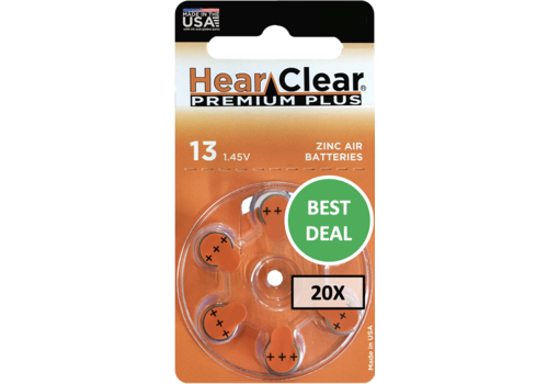 HearClear HearClear 13 Premium Plus - 20 pakjes