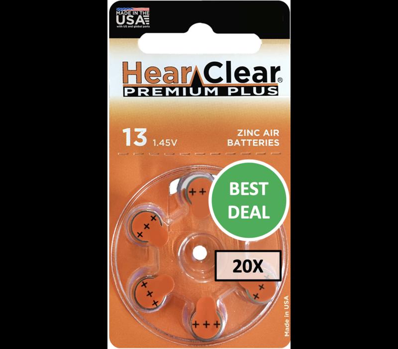 HearClear 13 (PR48) Premium Plus - 20 colis (120 piles)