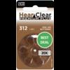 HearClear HearClear 312 (PR41) Premium Plus – 20 packs (120 batteries)
