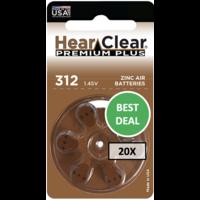 HearClear 312 (PR41) Premium Plus - 20 colis (120 piles)