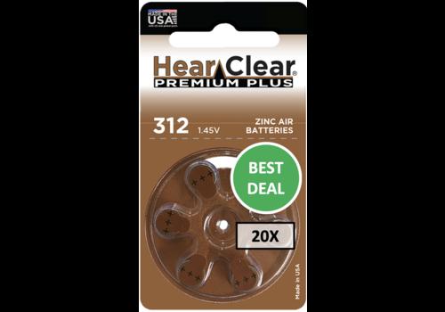HearClear HearClear 312 Premium Plus – 20 packs