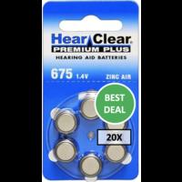 HearClear 675 (PR44) Premium Plus - 20 colis (120 piles)