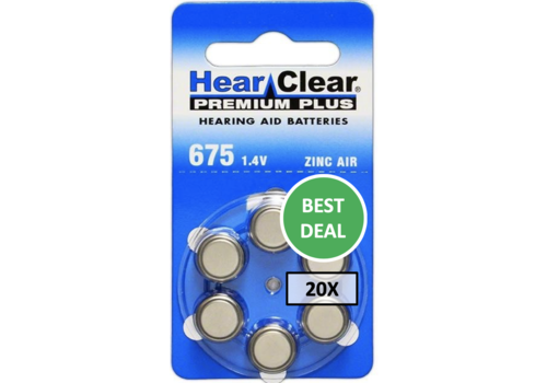 HearClear HearClear 675 Premium Plus - 20 pakjes