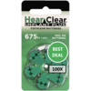 HearClear HearClear 675i+ (PR44) Implant Plus - 100 blisters (600 cochlear implant batteries)