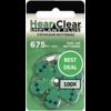 HearClear HearClear 675i+ (PR44) Implant Plus - 100 pakjes (600 cochleair implantaat batterijen)