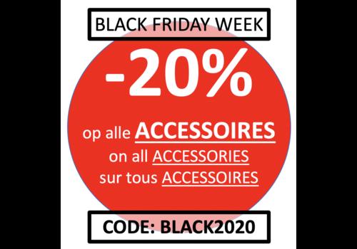 SEMAINE BLACK FRIDAY: Accessoires -20% avec le code 'BLACK2020'