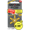 Rayovac Rayovac 10 (PR70) Extra Advanced – 20 blisters  (120 batteries)