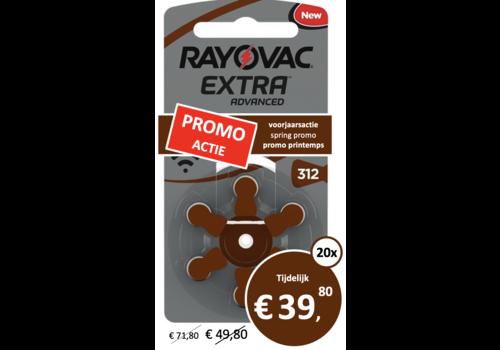 Rayovac Rayovac 312 Extra Advanced (blister/6) - 20 colis